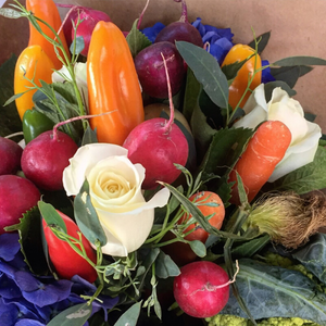 Vege and Flower Bouquet - Broadfield Flowers Florist Lincoln, Christchurch