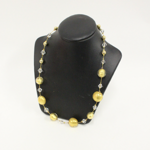 Gold Beaded Venetian Glass Necklace - Broadfield Flowers Florist Lincoln, Christchurch