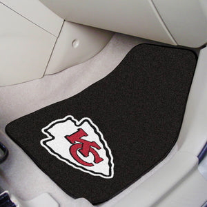 "NFL - Kansas City Chiefs 2-pc Carpeted Car Mats 17""x27"""