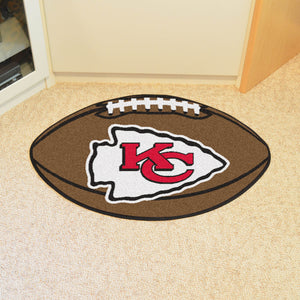 "NFL - Kansas City Chiefs Football Rug 20.5""x32.5"""