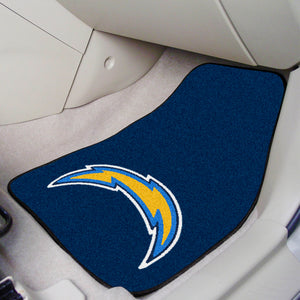 "NFL - Los Angeles Chargers 2-pc Carpeted Car Mats 17""x27"""