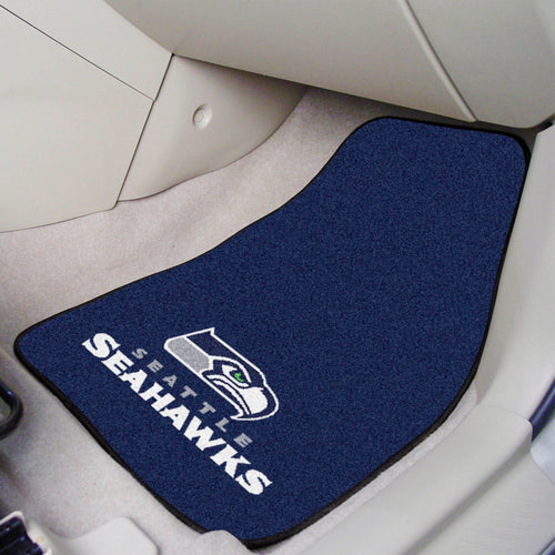 NFL - Seattle Seahawks 2-pc Carpeted Car Mats 17