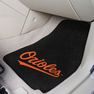 "MLB - Baltimore Orioles 2-pc Carpeted Car Mats 17""x27"""