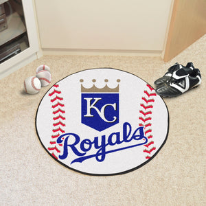 "MLB - Kansas City Royals Baseball Mat 27"" diameter"