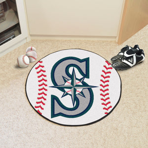 "MLB - Seattle Mariners Baseball Mat 27"" diameter"