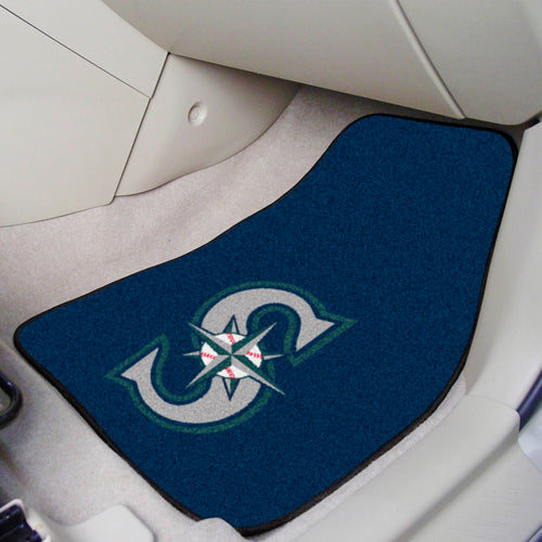 MLB - Seattle Mariners 2-pc Carpeted Car Mats 17
