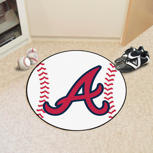 "MLB - Atlanta Braves Baseball Mat 27"" diameter"