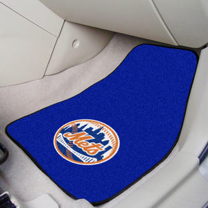 "MLB - New York Mets 2-pc Carpeted Car Mats 17""x27"""