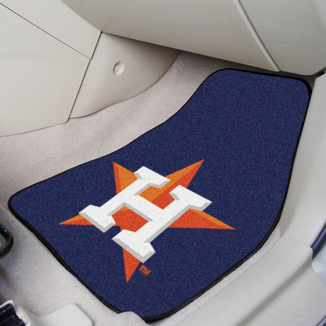 MLB - Houston Astros 2-pc Carpeted Car Mats 17