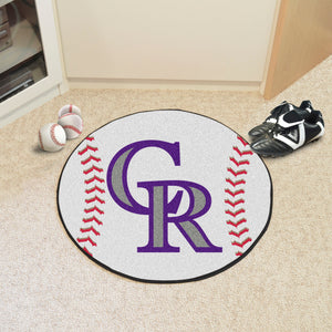 "MLB - Colorado Rockies Baseball Mat 27"" diameter"