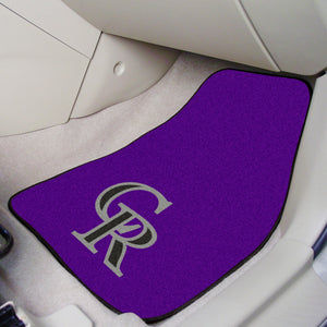 "MLB - Colorado Rockies 2-pc Carpeted Car Mats 17""x27"""