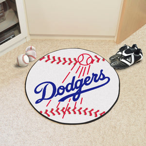 "MLB - Los Angeles Dodgers Baseball Mat 27"" diameter"