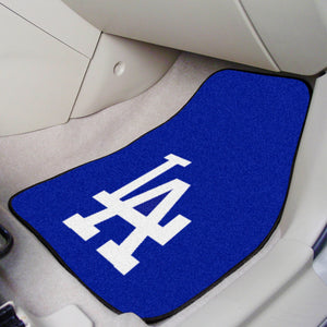 "MLB - Los Angeles Dodgers 2-pc Carpeted Car Mats 17""x27"""