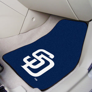"MLB - San Diego Padres 2-pc Carpeted Car Mats 17""x27"""