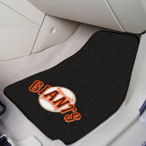 "MLB - San Francisco Giants 2-pc Carpeted Car Mats 17""x27"""