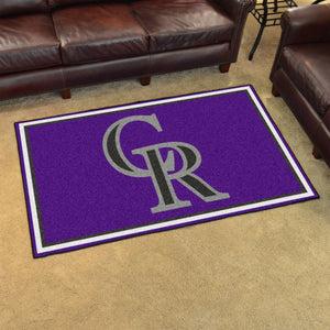 MLB - Colorado Rockies 4'x6' Rug