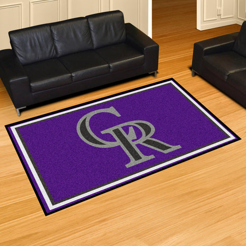 MLB - Colorado Rockies 5'x8' Rug