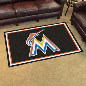 MLB - Miami Marlins 4'x6' Rug
