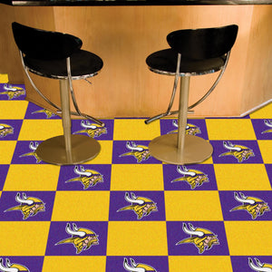 "NFL - Minnesota Vikings 18""x18"" Carpet Tiles"