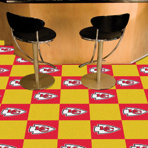 "NFL - Kansas City Chiefs 18""x18"" Carpet Tiles"