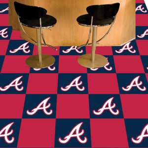 "MLB - Atlanta Braves 18""x18"" Carpet Tiles"