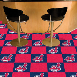 "MLB - Cleveland Indians 18""x18"" Carpet Tiles"