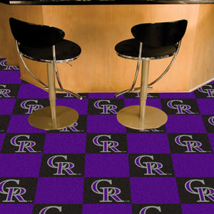 "MLB - Colorado Rockies 18""x18"" Carpet Tiles"