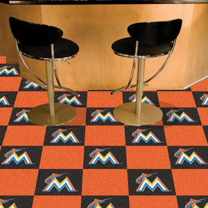 "MLB - Miami Marlins 18""x18"" Carpet Tiles"