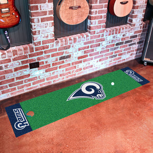 "NFL - Los Angeles Rams Putting Green Runner 18""x72"""