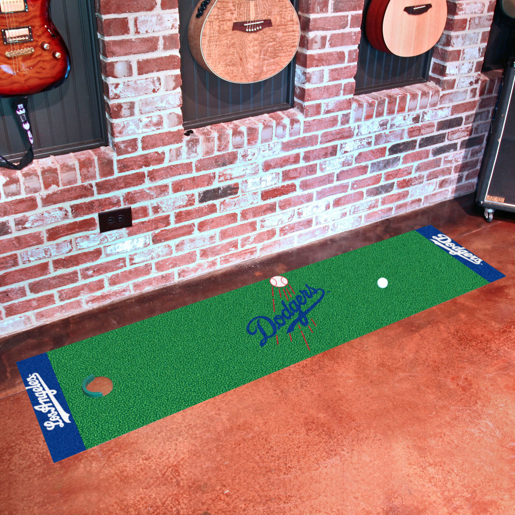 MLB - Los Angeles Dodgers Putting Green Runner 18
