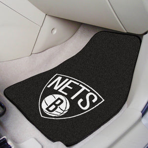 "NBA - Brooklyn Nets 2-pc Carpeted Car Mats 17""x27"""