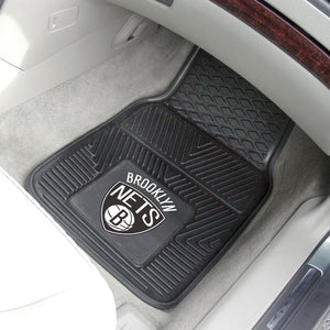 "NBA - Brooklyn Nets 2-pc Vinyl Car Mats 17""x27"""