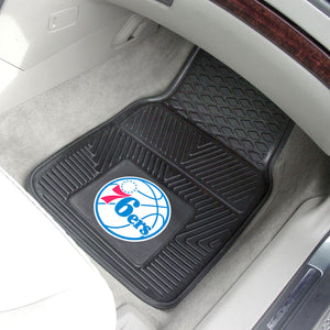 "NBA - Philadelphia 76ers 2-pc Vinyl Car Mats 17""x27"""