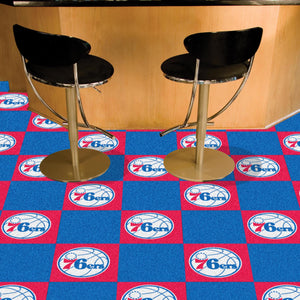 "NBA - Philadelphia 76ers 18""x18"" Carpet Tiles"