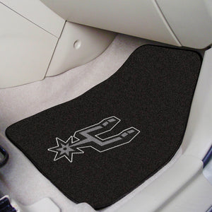 "NBA - San Antonio Spurs 2-pc Carpeted Car Mats 17""x27"""
