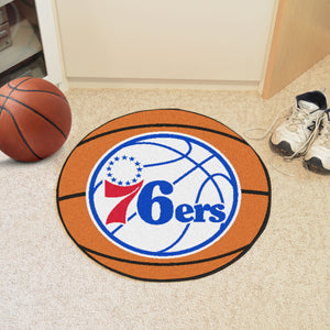 "NBA - Philadelphia 76ers Basketball Mat 27"" diameter"