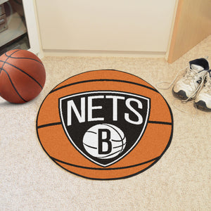 "NBA - Brooklyn Nets Basketball Mat 27"" diameter"