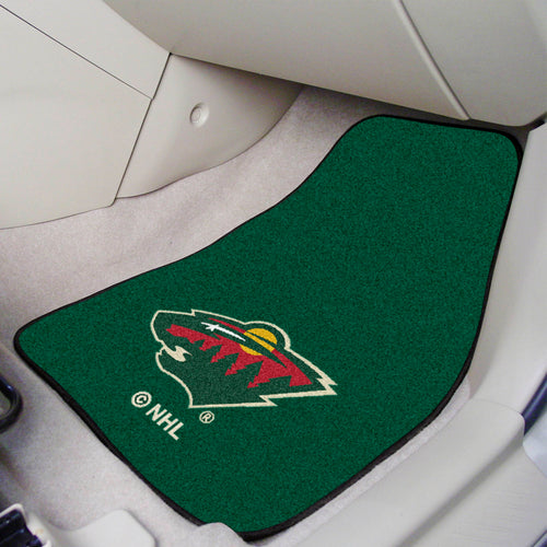 NHL - Minnesota Wild 2-pc Printed Carpet Car Mats 17
