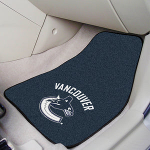"NHL - Vancouver Canucks 2-pc Printed Carpet Car Mats 17""x27"""