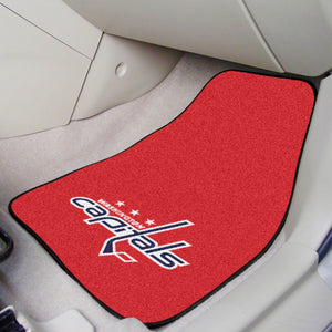 "NHL - Washington Capitals 2-pc Printed Carpet Car Mats 17""x27"""