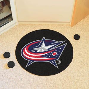 "NHL - Columbus Blue Jackets Puck Mat 27"" diameter"