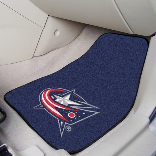 NHL - Columbus Blue Jackets 2-pc Printed Carpet Car Mats 17
