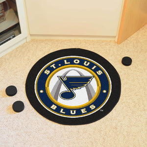 "NHL - St. Louis Blues Puck Mat 27"" diameter"
