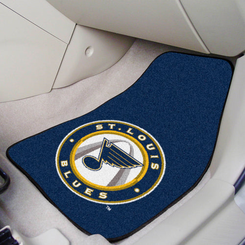NHL - St. Louis Blues 2-pc Printed Carpet Car Mats 17