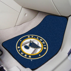 "NHL - St. Louis Blues 2-pc Printed Carpet Car Mats 17""x27"""