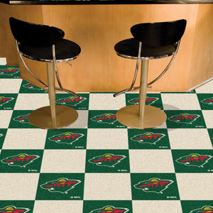 "NHL - Minnesota Wild 18""x18"" Carpet Tiles"