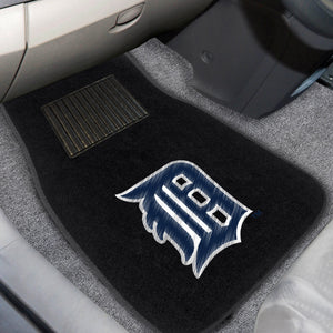 "MLB - Detroit Tigers 2-pc Embroidered Car Mats 18""x27"""