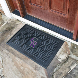 "MLB - Colorado Rockies Door Mat 19.5""x31.25"""