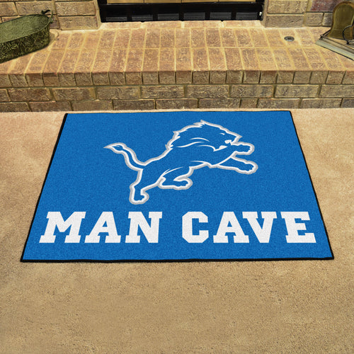 NFL - Detroit Lions Man Cave All-Star Mat 33.75