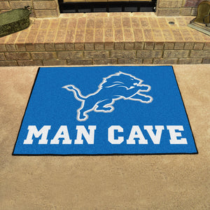 "NFL - Detroit Lions Man Cave All-Star Mat 33.75""x42.5"""